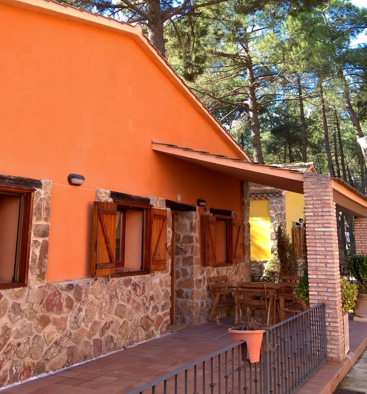 Porche cabaña rural Cuenca
