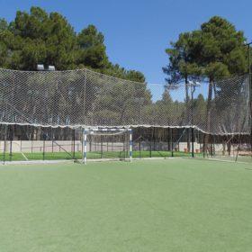 Campo de futbol cabañas rurales